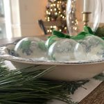 DIY Glass Etched Christmas Ornaments