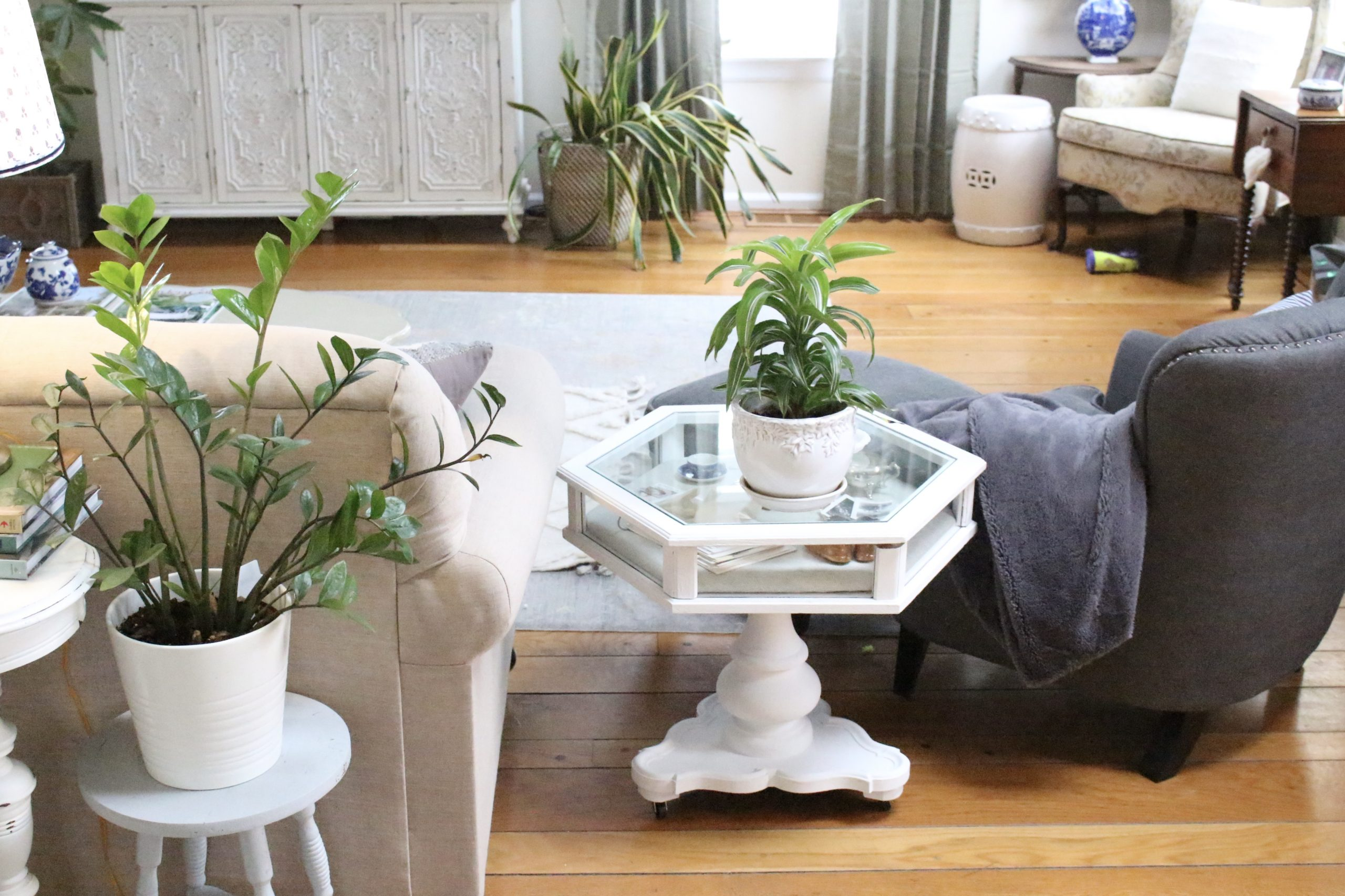 Updating a Curio Table~ White Cottage Home & Living