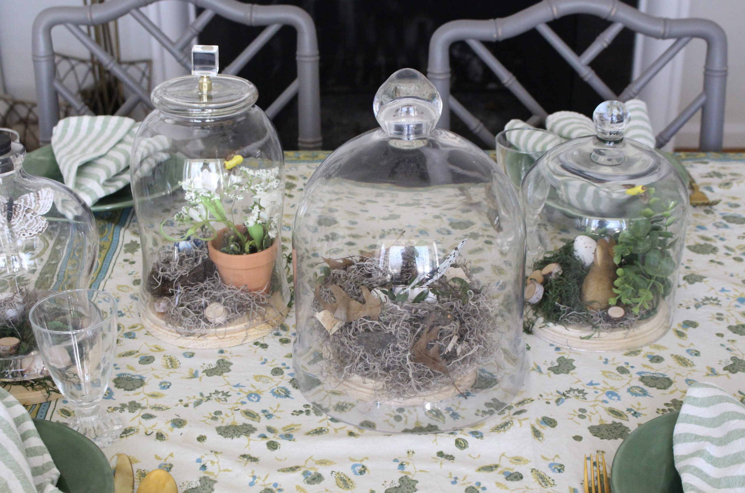 Glass Cloche Spring Vignettes~ White Cottage Home & Living