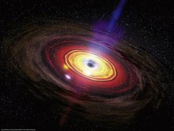Again black hole waked up