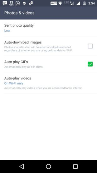 image quality of line app