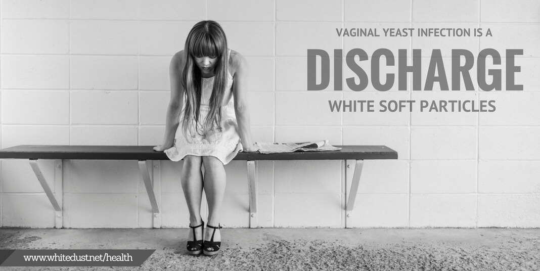 When this vaginal discharge is combined with urine during the process of  urination, it leads to white flakes in the urine.
