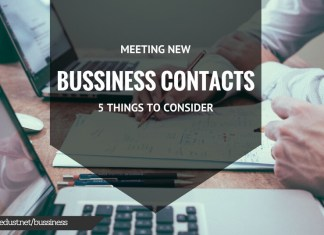 Meeting New Business Contacts: 5 Things to Consider