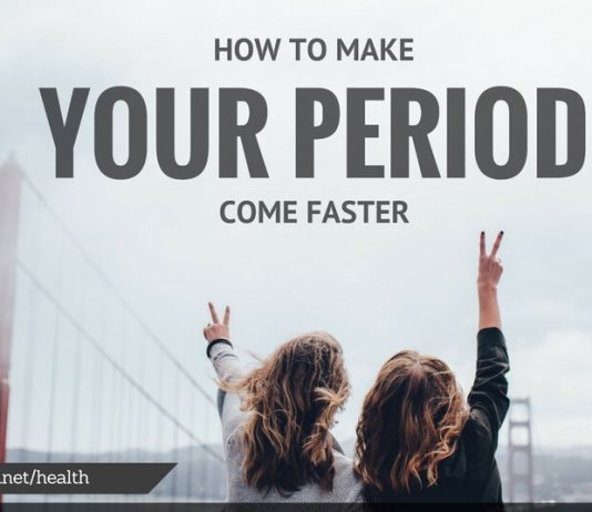 how to make your period come faster