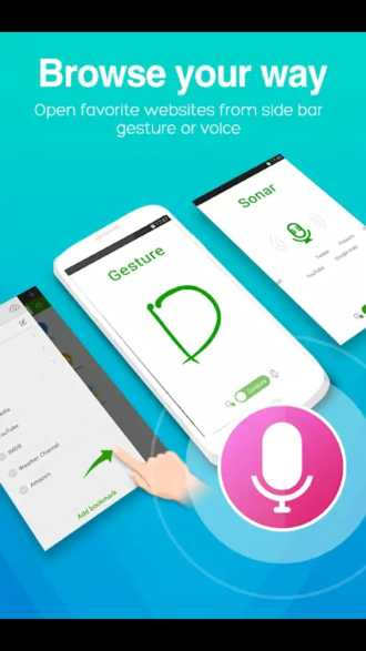 Dolphin Browser voice search