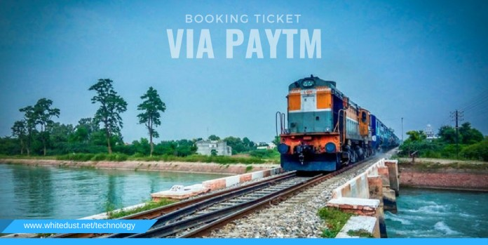 Booking tickets via Paytm,
