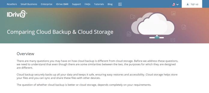iDrive Cloud Storage and Backup Service