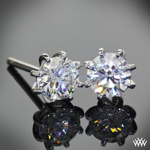 8 Prong Martini Diamond Earrings