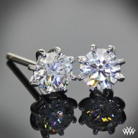 8 Prong Martini Diamond Earrings