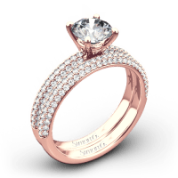 Simon G. LP1935-D Delicate Diamond Wedding Set | 3477