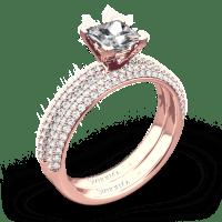 Simon G. LP1935-D Delicate Diamond Wedding Set for ...