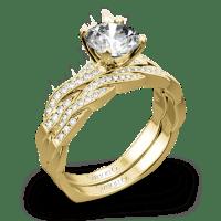 Simon G. MR1498-D Delicate Diamond Wedding Set | 3432