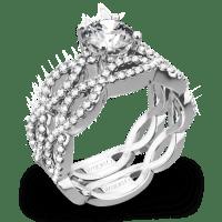 Simon G. MR1596 Fabled Diamond Wedding Set - Whiteflash | 4213