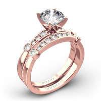 Simon G. MR1546-D Delicate Diamond Wedding Set | 3507