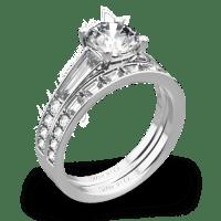 Simon G. MR2220 Duchess Diamond Wedding Set | 3536