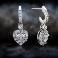 'Diamond Heart Drop' Diamond Earrings | 770