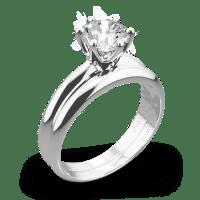 Vatche 6 Prong Solitaire Wedding Set   2825