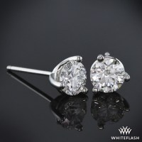 3-prong 'Martini' Diamond Earrings--Setting Only | 304