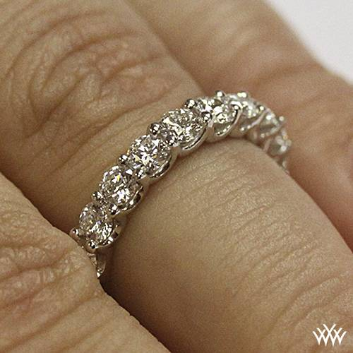 Annettes UProng Eternity Diamond Wedding Ring