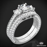 "3 Stone ""Coeur de Clara Ashley"" Diamond Wedding Set 
