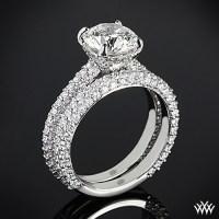 Elena Rounded Pave Diamond Wedding Set | 2393