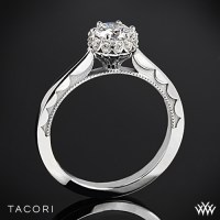 Tacori Sculpted Crescent Harmony Solitaire Engagement Ring ...