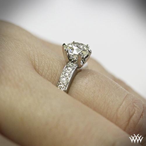 Classic Bead Set Diamond Engagement Ring 1006