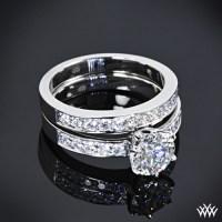 "tiffany style ""Bead-Set"" Diamond Wedding Set | 1468"