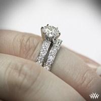 "tiffany style ""Bead-Set"" Diamond Wedding Set | 1467"