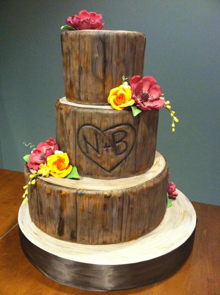 Fondant White Flower Cake Shoppe