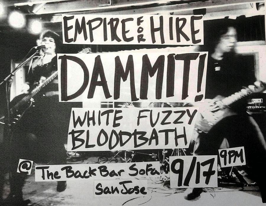 back bar sofa san jose ca affordable leather sleeper white fuzzy bloodbath tour dates 09 17 2015 the
