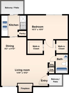 1 Bed / 1 Bath / 750 ft² / Availability: Please Call / Deposit: $300 / Rent: $625