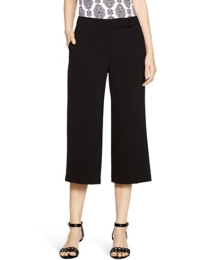 The Soft Drape Black Culotte