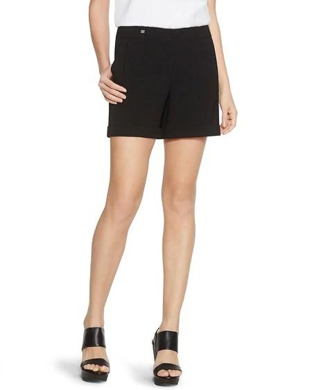 Soft Drape Black Shorts
