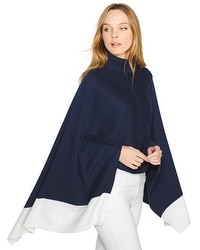 Colorblock Jersey Poncho