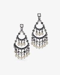 Faux Pearl Drop Chandelier Earrings - WHBM