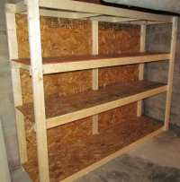 Basement Storage Shelves Plans PDF Woodworking