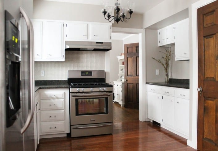 cost to renovate a kitchen tall trash cans old house - tour white black shutters