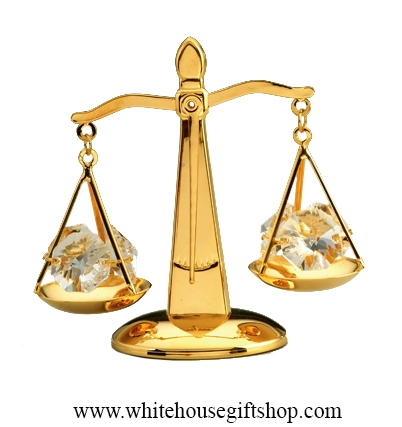 scales of justice 24kt