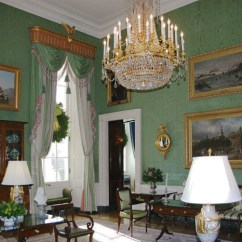 William And Mary Chair Hanging With Stand Green Room - White House Museum