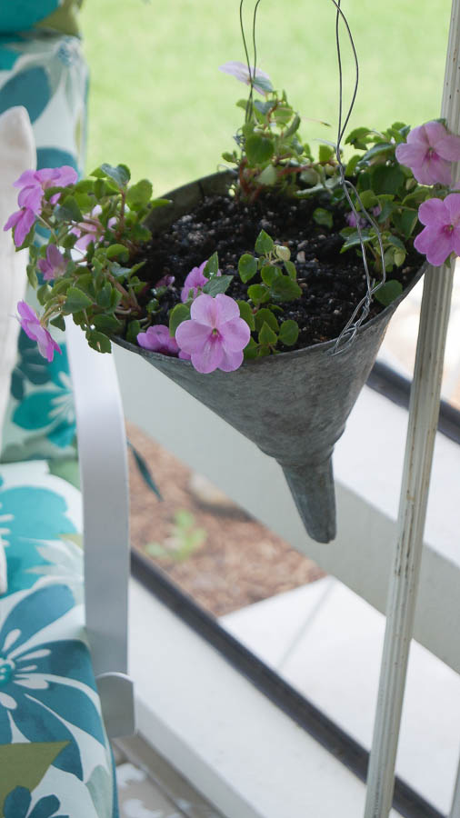 how to make a plant holder from an oil funnel vintage style shabby chic (20 of 27)