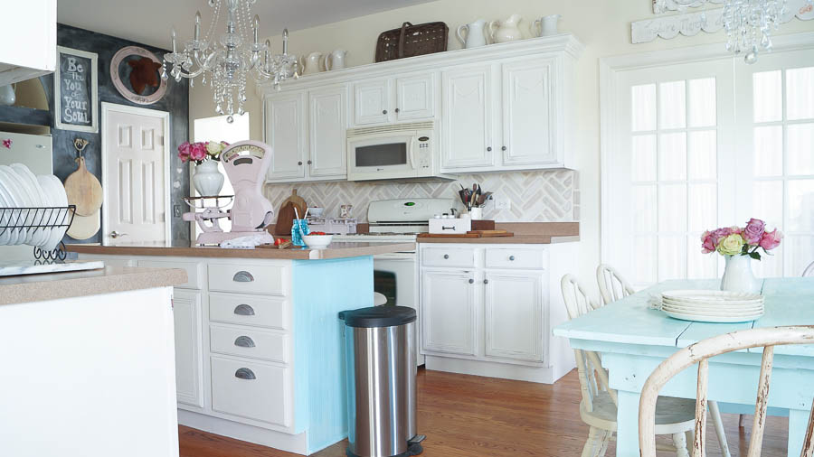 Chalk Painted Kitchen Cabinets Never Again! White Lace Cottage