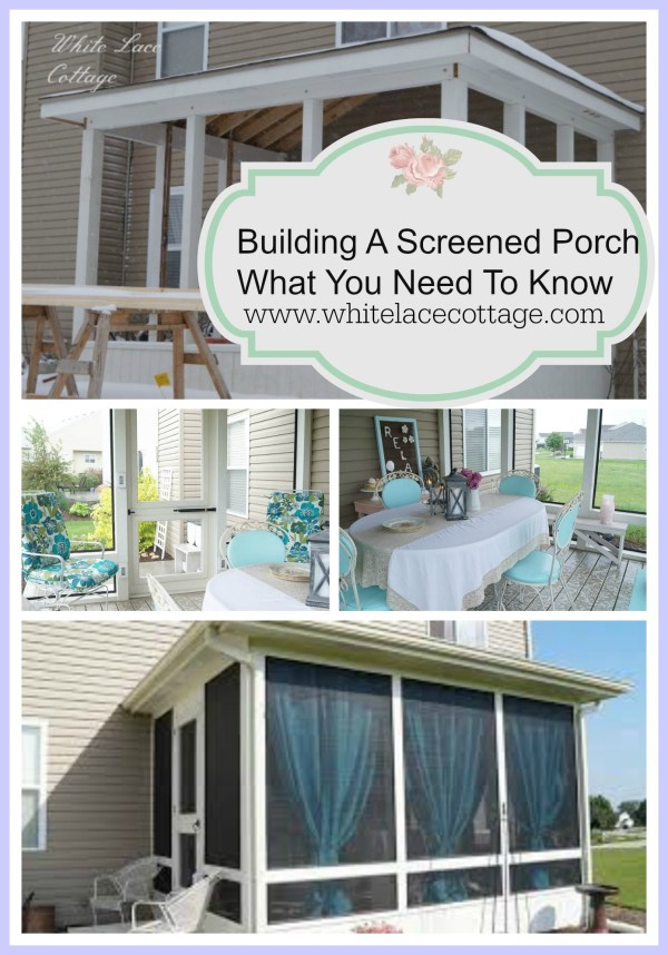 Building a Screened in Porch Deck