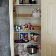 Kitchen Pantry Ideas Rubbermaid Trash Can Organizing White Lace Cottage