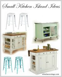 Small Kitchen Island Ideas With Seating - White Lace Cottage