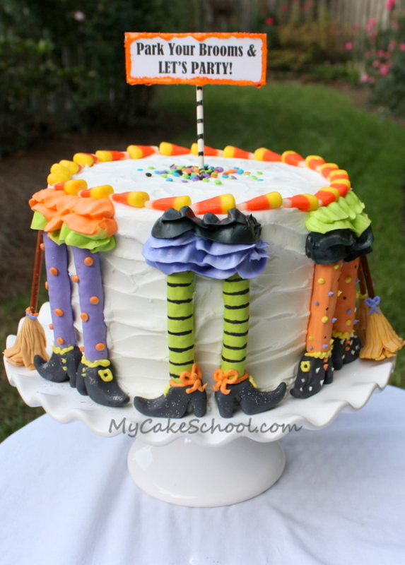 Park Your Brooms! Cake