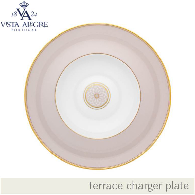 CHARGER PLATES WHITE LILAC