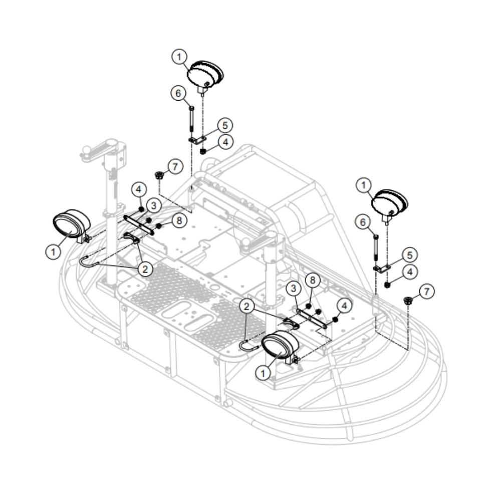 MultiQuip Whiteman HHNG4 RideOn Power Trowel Parts
