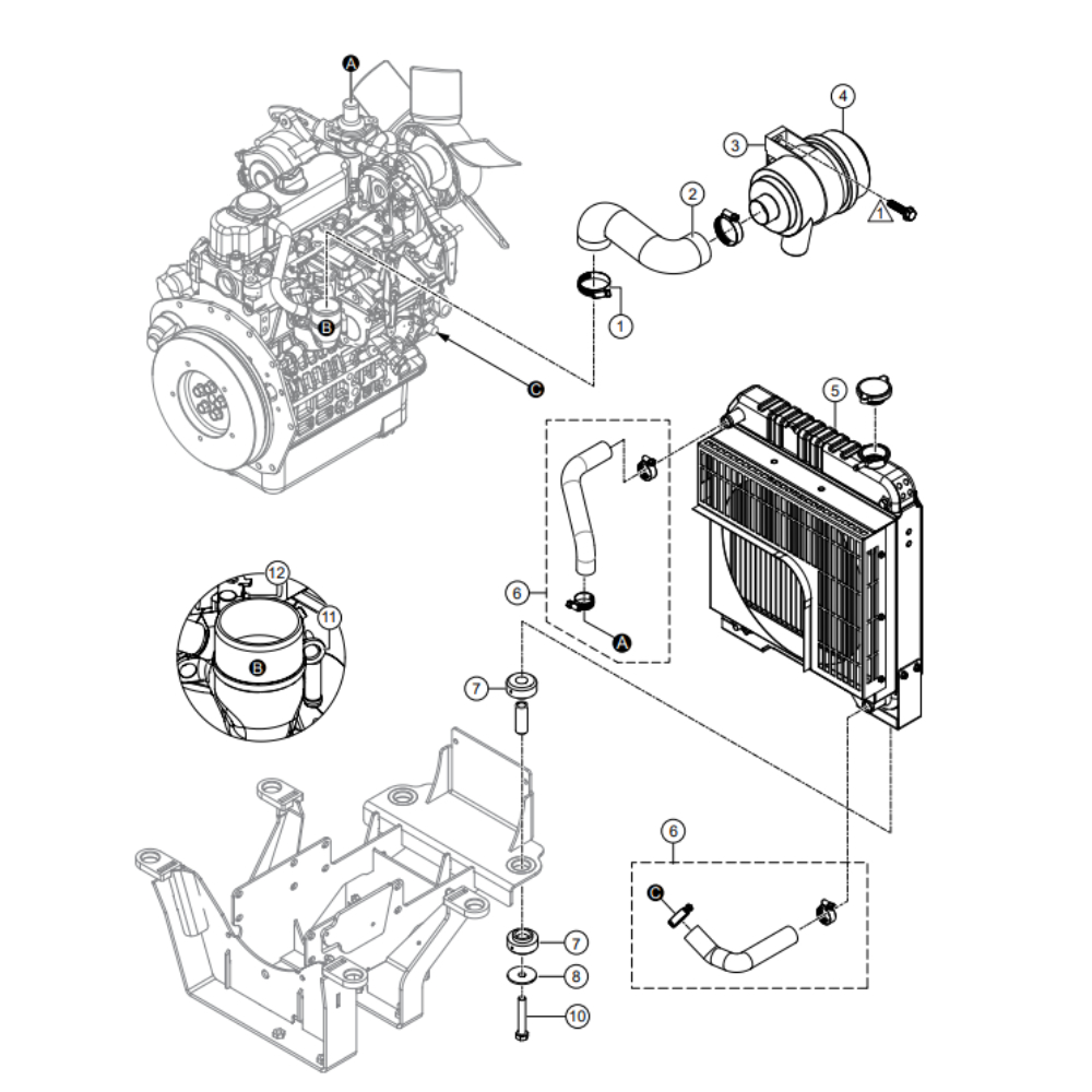 MultiQuip Whiteman HHXDF4 RideOn Power Trowel Parts