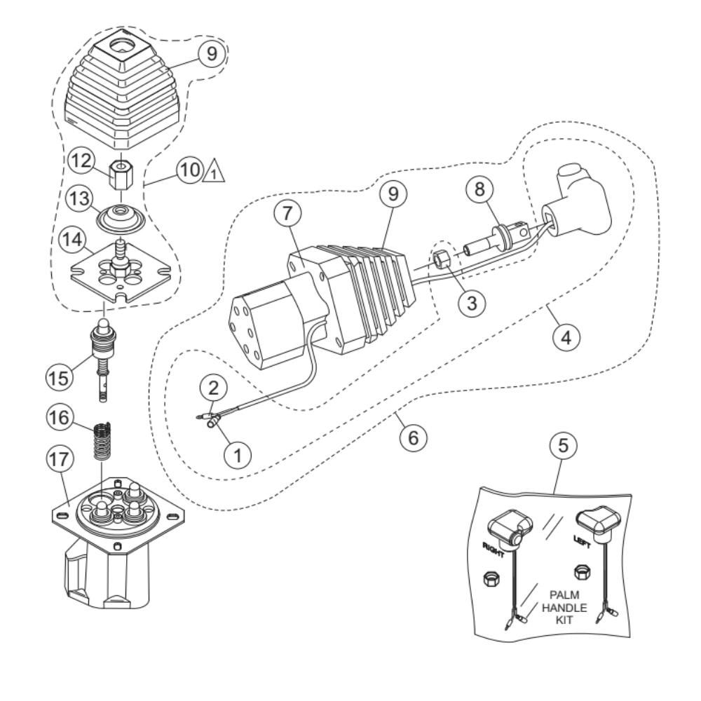 Multiquip Whiteman HTX-44K5 KUBOTA Ride On Trowel Parts
